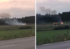 В Швеции самолет разбился после взлета, есть погибшие