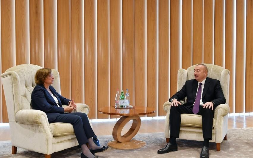 Prezident İlham Əliyev Avropa Şurasının Baş katibinin müavinini qəbul edib