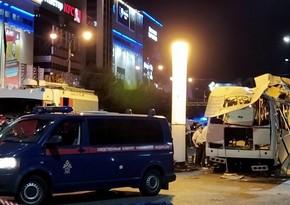 Rusiyada avtobusda partlayış zamanı xəsarət alanların sayı 18-ə çatıb, ölən var