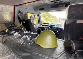 В результате выпущенного армянской стороной снаряда пострадал сотрудник МЧС