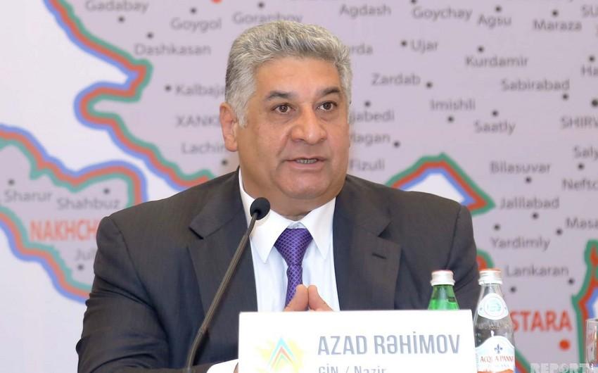 Azad Rəhimov: Komanda növlərində yığmalarımızın yüksək səviyyədə çıxış etməsini istərdik