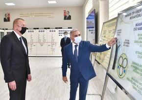 Президент принял участие в открытии подстанции Бузовна-1 в Баку