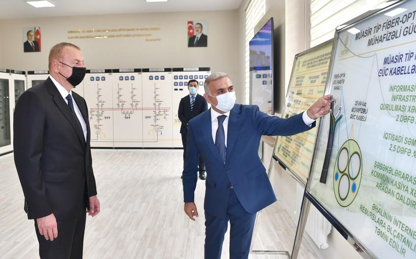 """İlham Əliyev Bakıda """"Buzovna-1"""" yarımstansiyasının açılışında iştirak edib"""