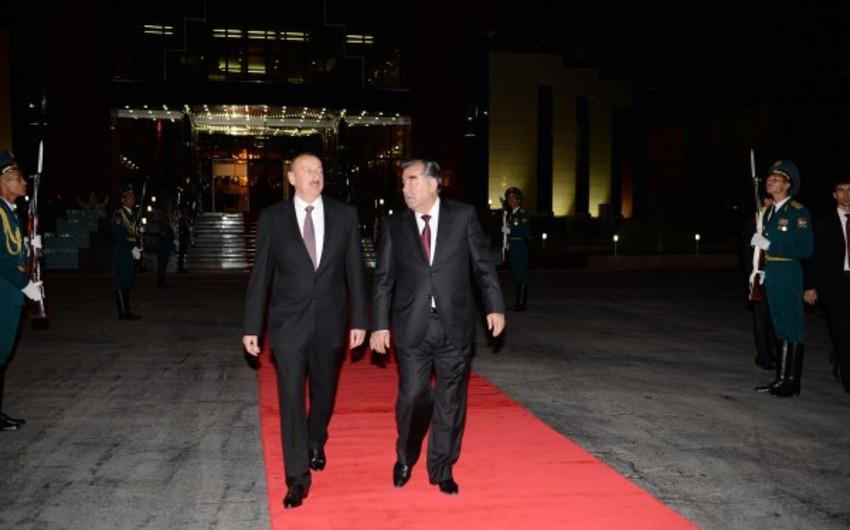 Azərbaycan prezidentinin Tacikistana rəsmi səfəri başa çatıb
