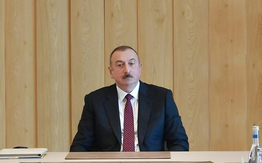 Azərbaycan Prezidenti: Əgər kimsə hesab edir ki, biz bununla barışmalıyıq, səhv edir