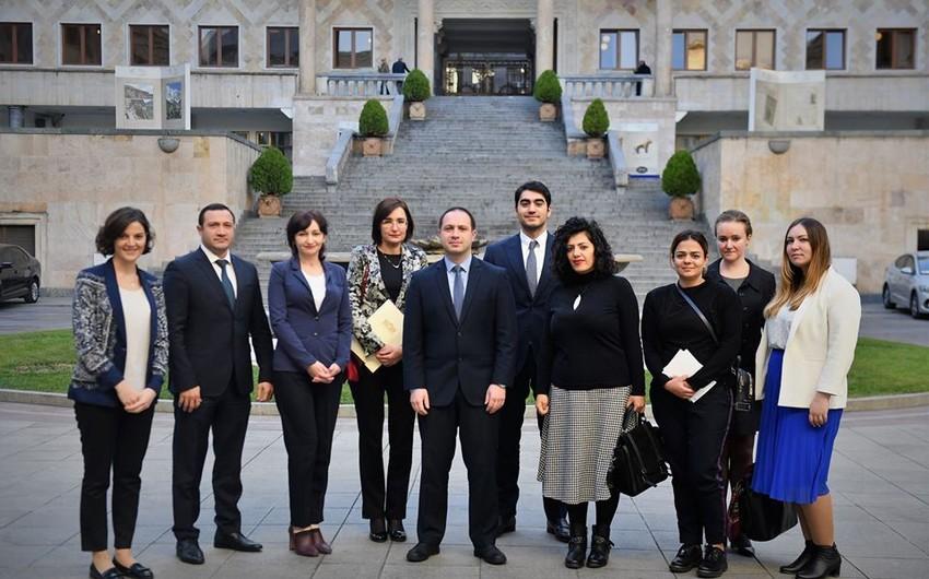 Milli Məclisin əməkdaşları Gürcüstan parlamentinin fəaliyyəti ilə tanış olublar