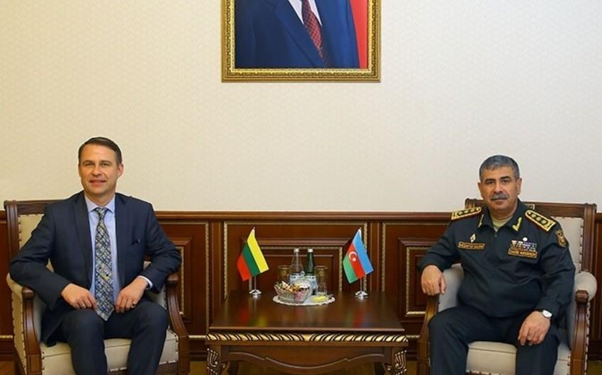Zakir Hasanov meets newly appointed Ambassador of Lithuania to Azerbaijan