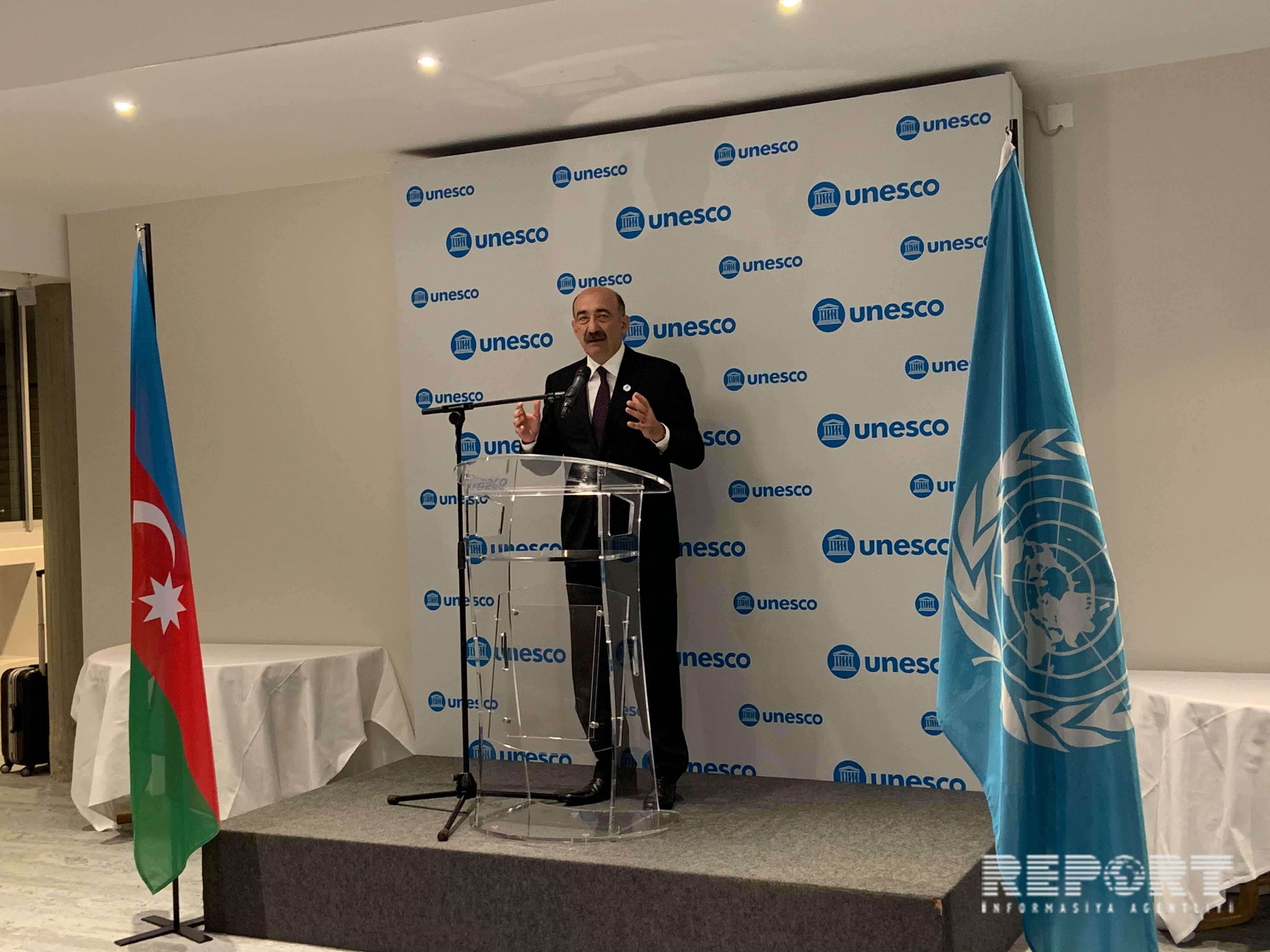 Parisdə Azərbaycanın UNESKO üzrə Milli Komissiyasının 25 illiyi qeyd edilib - FOTO