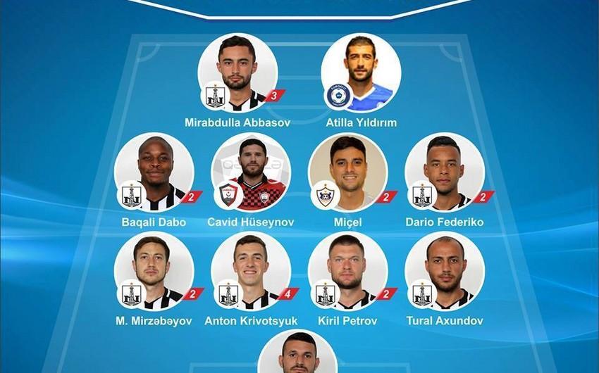 Neftçinin 8 futbolçusu Azərbaycan Premyer Liqasında VI turun rəmzi komandasına düşüb