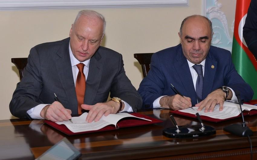 Azərbaycan Baş Prokurorluğu ilə Rusiya İstintaq Komitəsi arasında əməkdaşlığa dair saziş imzalanıb