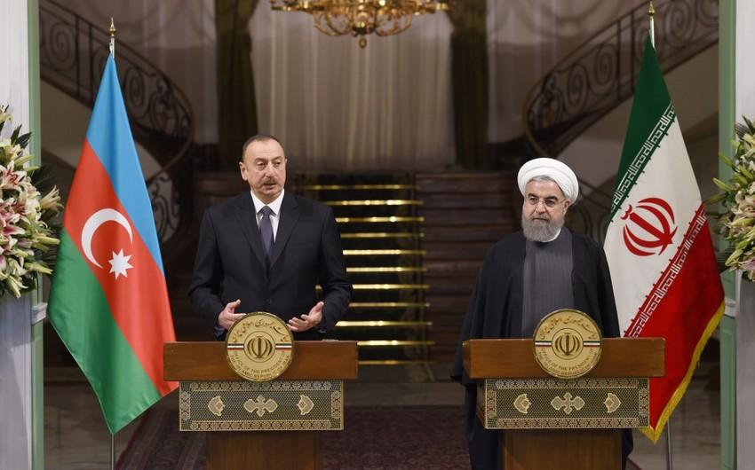 Azərbaycan və İran prezidentləri mətbuata bəyanatlarla çıxış ediblər