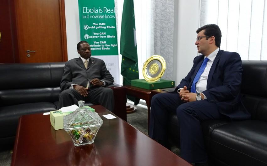 Elman Abdullayev Afrika İttifaqının sosial məsələlər üzrə komissarı ilə görüşüb