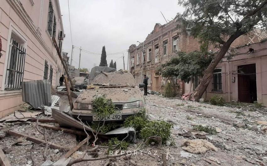 Gəncədə Ermənistanın evləri vurması nəticəsində ölən və yaralananlar var