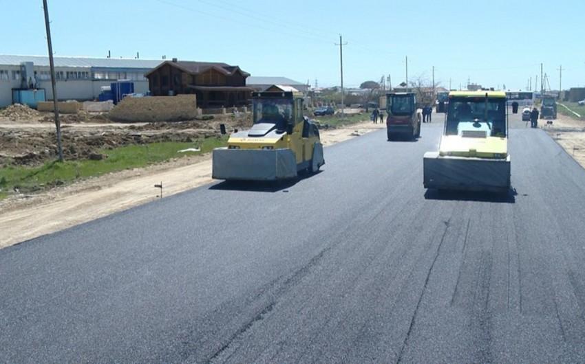 Binəqədi-Novxanı-Corat yolunun bir hissəsində yenidənqurma işləri bitir - VİDEO