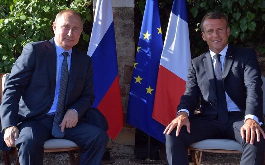 Rusiya və Fransa prezidentləri regional münaqişələrin nizamlanmasını müzakirə ediblər