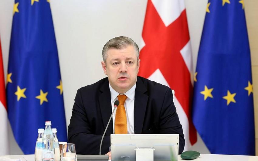 Gürcüstanın baş naziri İlham Əliyevi yenidən Prezident seçilməsi münasibətilə təbrik edib