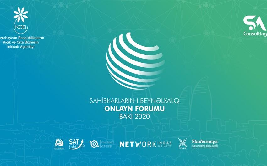 Sahibkarların I beynəlxalq onlayn forumu  keçiriləcək