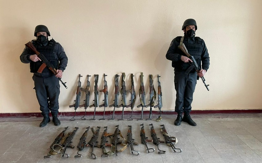 Weapons abandoned by Armenians found in Gubadli and Jabrayil