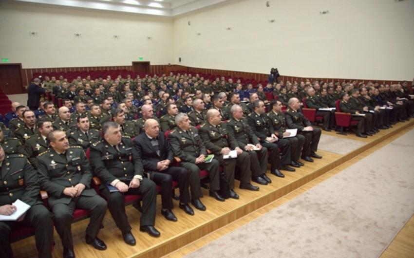 Baku meeting of high-ranking officers of Azerbaijani Army continues