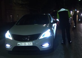 Gəncədə yol polisi reyd keçirdi