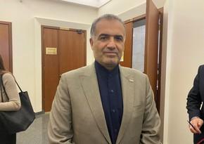İranlı diplomat: Qarabağ münaqişəsinin başa çatması regionda iqtisadi əməkdaşlığa təkan verəcək