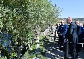 Ильхам Алиев в Губадлы: На этих плодородных землях должно быть только благополучное проживание