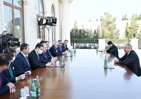 Ilham Aliyev receives Speaker of Turkish Parliament