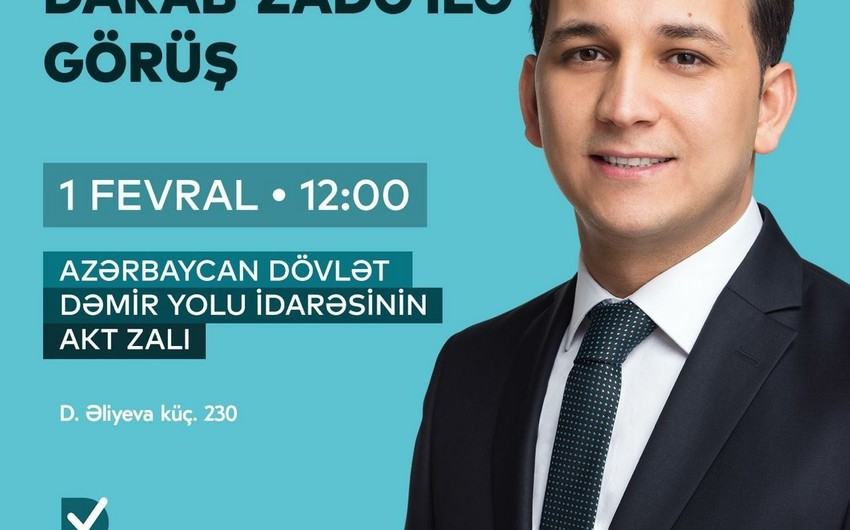 Zaur Darabzadə gənclərlə görüş keçirəcək - VİDEO