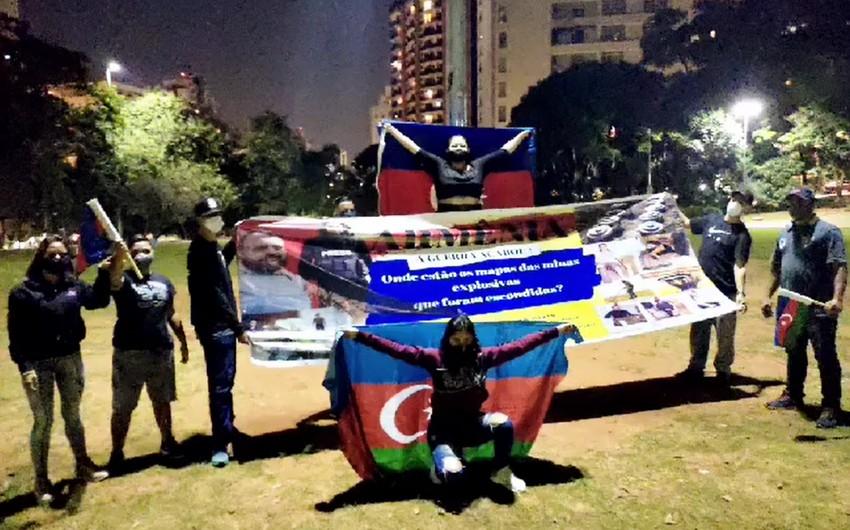 San Paolo şəhərində Ermənistana qarşı etiraz aksiyası keçirilib