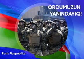 """""""Bank Respublika"""" Silahlı Qüvvələrə Yardım Fonduna 200 min manat köçürdü"""