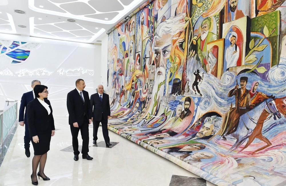 President Ilham Aliyev views Kimyachi Culture Palace in Sumgayit