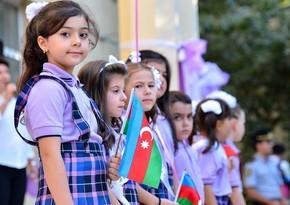 В Азербайджане в этом году в первый класс пойдут более 158 тыс. учеников