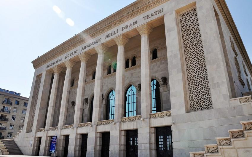 Azərbaycan Dövlət Akademik Milli Dram Teatrının noyabr üçün repertuarı açıqlanıb