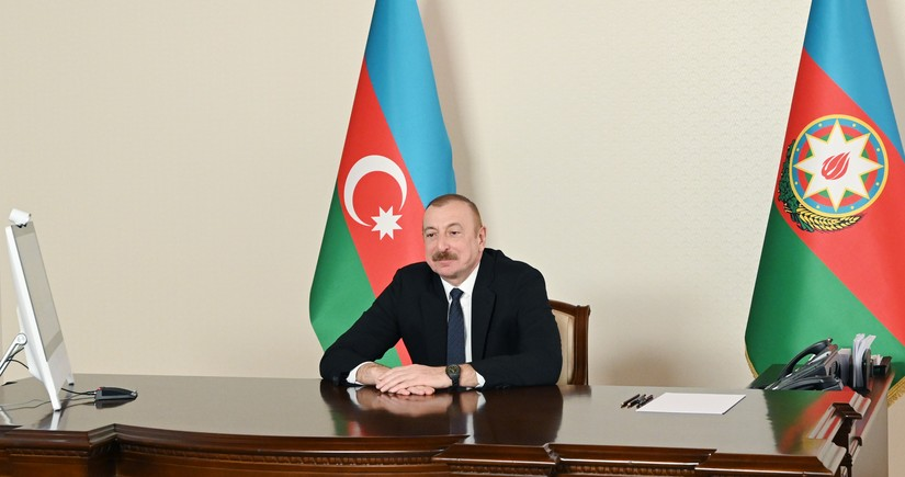 President of Azerbaijan makes speech at virtual Summit of Economic Cooperation Organization