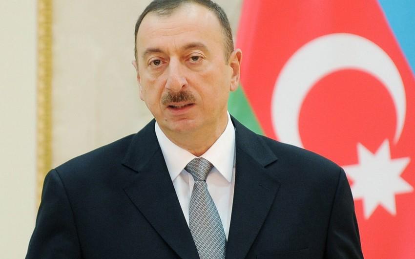 Prezident İlham Əliyev Ucar Gənclər Mərkəzinin açılışında iştirak edib
