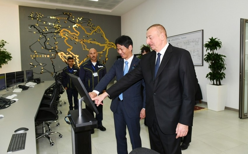"""President Ilham Aliyev attended ceremony to launch """"Shimal-2"""" power station"""