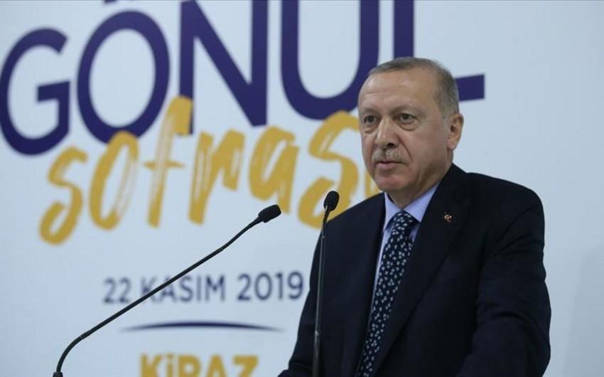 Ərdoğan: Türkiyə Suriyanın şimalında terror dövlətinin yaradılmasına imkan vermədi