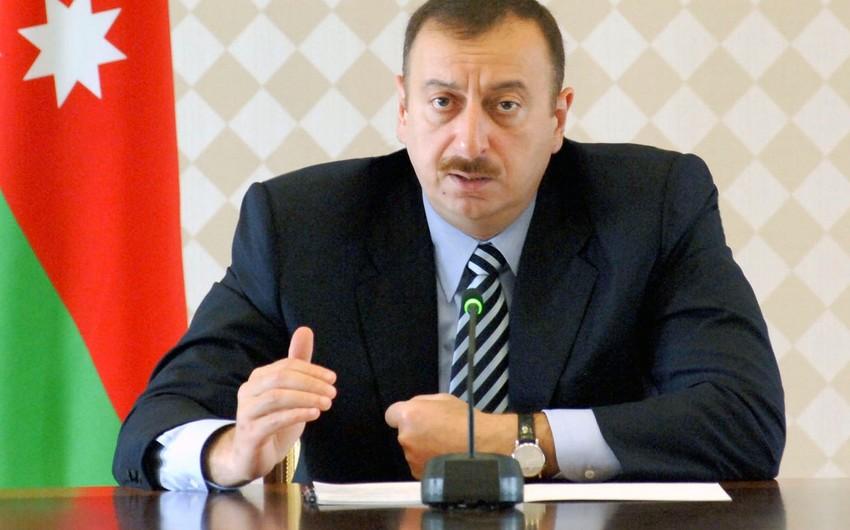 Prezident İlham Əliyev: Hər bir mərhələdə bütün tikinti marteriallarına ciddi nəzarət olunmalıdır