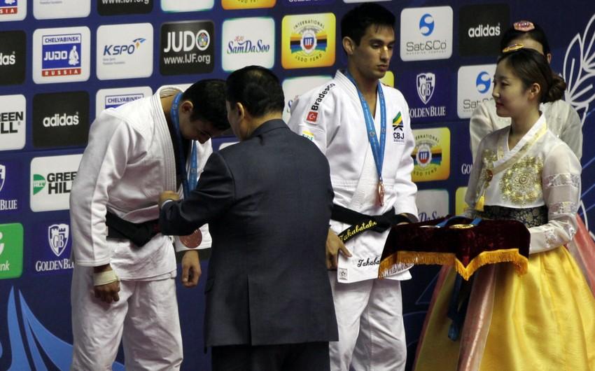 Azərbaycan cüdoçusu Qran Pridə bürünc medal qazanıb