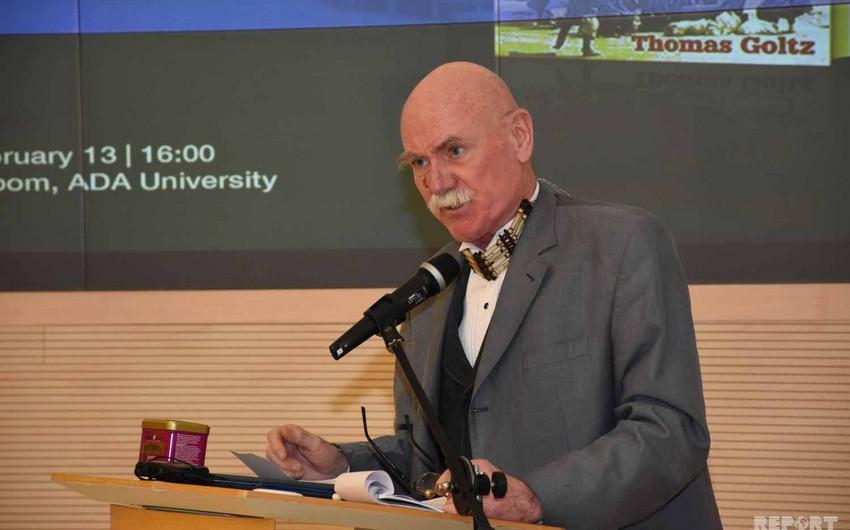 Tomas Qolts ADA Universitetinin fəxri doktoru oldu