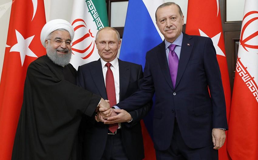 Putin: Rusiya, İran və Türkiyə arasında Suriya məsələsi üzrə razılaşmalar yerinə yetirilir