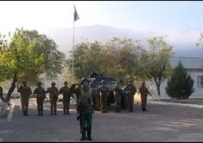 На Агбяндской пограничной заставе развевается азербайджанский флаг
