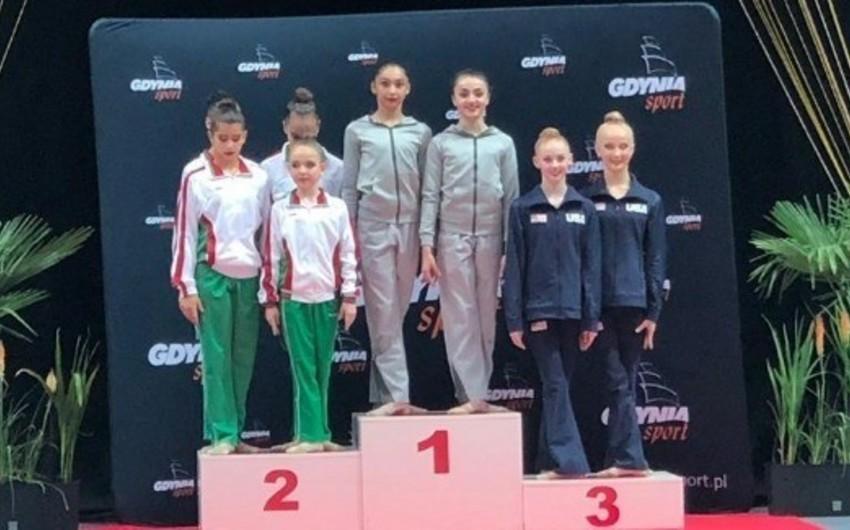 Azərbaycanın bədii gimnastları beynəlxalq turnirdə 10 medal qazanıb
