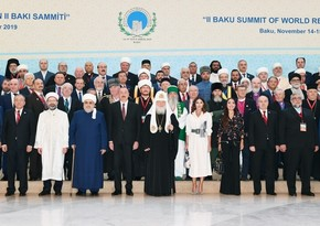 2nd Summit of World Religious Leaders gets underway in Baku; President attends the Summit
