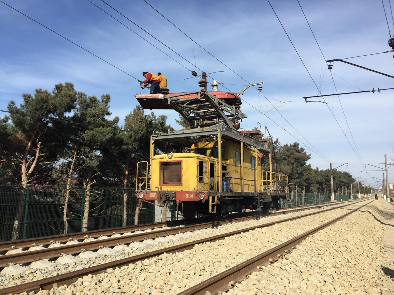 Реконструируется система электроснабжения Бакинской кольцевой железнодорожной линии