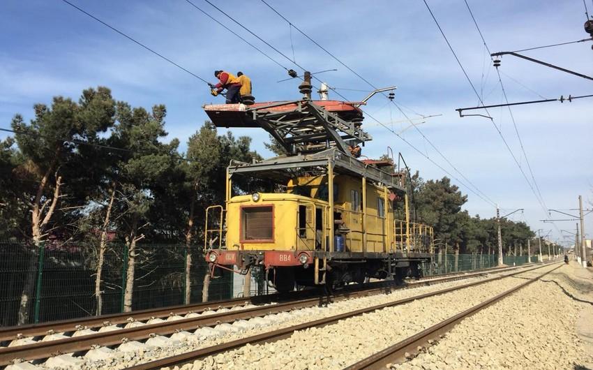Bakı dairəvi dəmir yolunun elektrik təchizatı sistemi yenidən qurulur