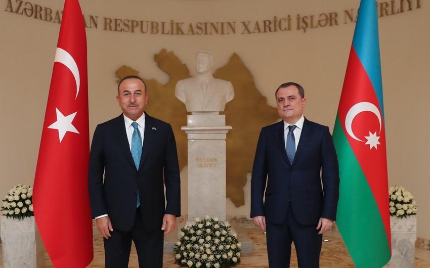 """Çavuşoğlu: """"Azərbaycanlı qardaşlarımızla həmişə birlikdəyik, bərabərik, bir millətik"""""""