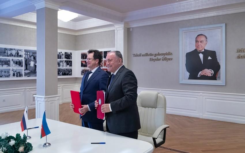 Азербайджанский и российский вуз подписали договор о сотрудничестве