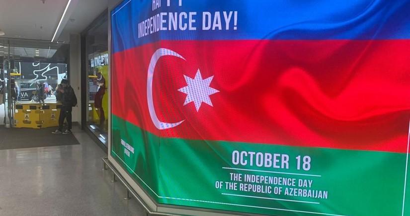 Londonda bilbordlarda Azərbaycanla bağlı məlumat yerləşdirilib