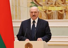 Aleksandr Lukaşenko ilk təbriki qəbul etdi